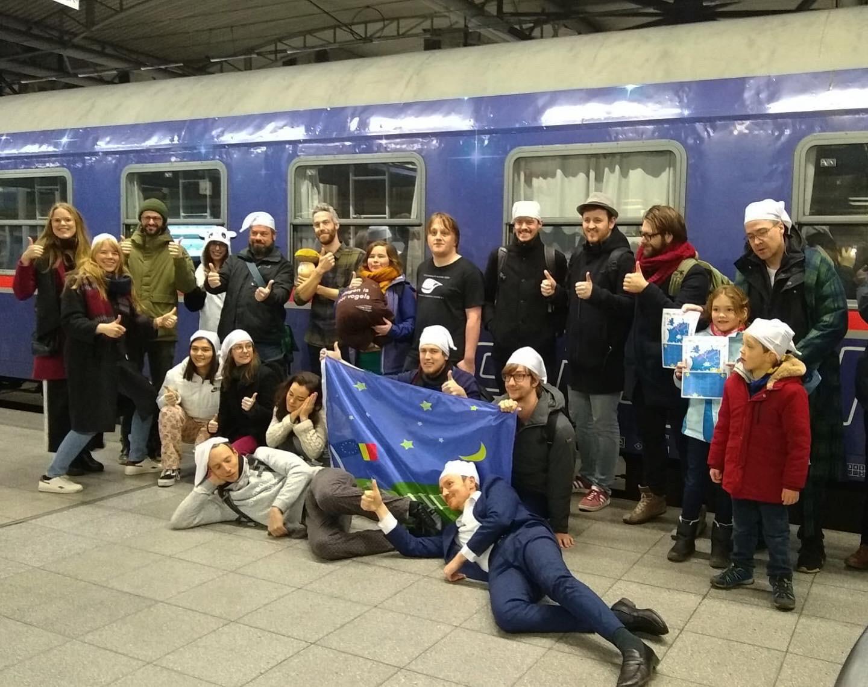 belgische-en-vlaamse-klimaatactiegroepen-vieren-nieuwe-nachttrein-brussel-wenen